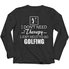 Golf Therapy Long Sleeve / Black / 3XL