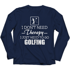 Golf Therapy Long Sleeve / Navy / 3XL