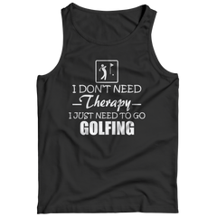 Golf Therapy Tank Top / Black / M