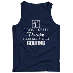 Golf Therapy Tank Top / Navy / 3XL