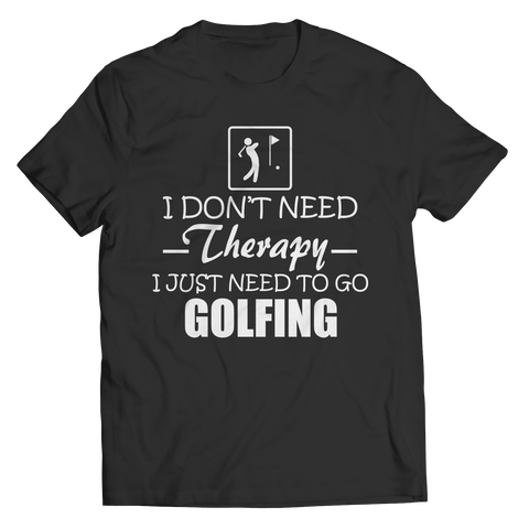 Golf Therapy Unisex Shirt / Black / 3XL