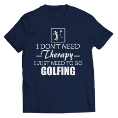 Golf Therapy Unisex Shirt / Navy / 3XL