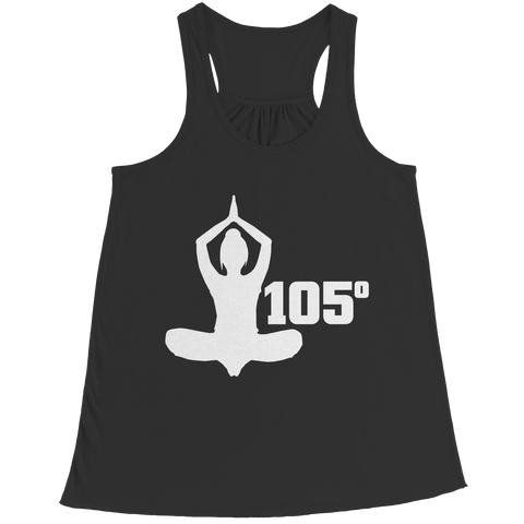 Hot Yoga 105 Degrees Bella Flowy Racerback Tank / Black / 2XL