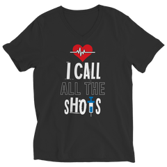 I Call All the Shots 1 Ladies V-Neck / Black / S
