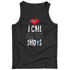 I Call All the Shots 1 Tank Top / Black / S
