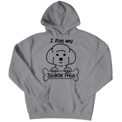 I Love My Bichon Frise Hoodie / Athletic Heather / S