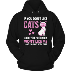 If You Don't Like Cats Hoodie / Black / S