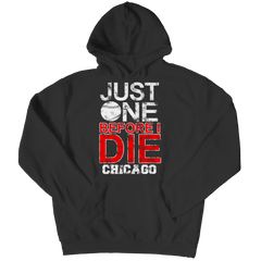Just One Before I Die Chicago Hoodie / Black / 3XL