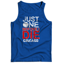 Just One Before I Die Chicago Tank Top / Royal / 3XL