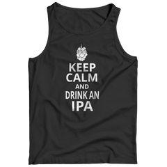 Keep Calm And Drink IPA Tank Top / Black / S