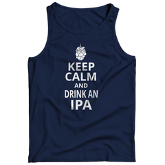Keep Calm And Drink IPA Tank Top / Navy / S