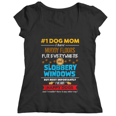 Limited Edition - # 1 Dog Mom Ladies Classic Shirt / Black / S