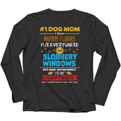 Limited Edition - # 1 Dog Mom Long Sleeve / Black / S