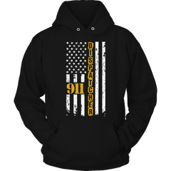 Limited Edition - 911 dispatcher flag Hoodie / Black / S