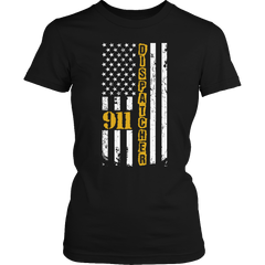 Limited Edition - 911 dispatcher flag Ladies Classic Shirt / Black / S
