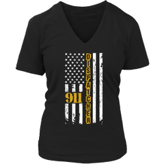 Limited Edition - 911 dispatcher flag Ladies V-Neck / Black / S