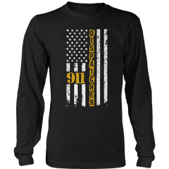 Limited Edition - 911 dispatcher flag Long Sleeve / Black / S
