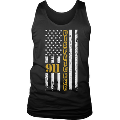 Limited Edition - 911 dispatcher flag Tank Top / Black / S
