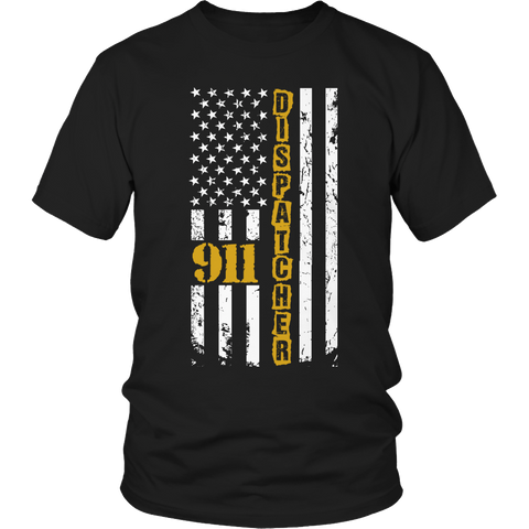 Limited Edition - 911 dispatcher flag Unisex Shirt / Black / S