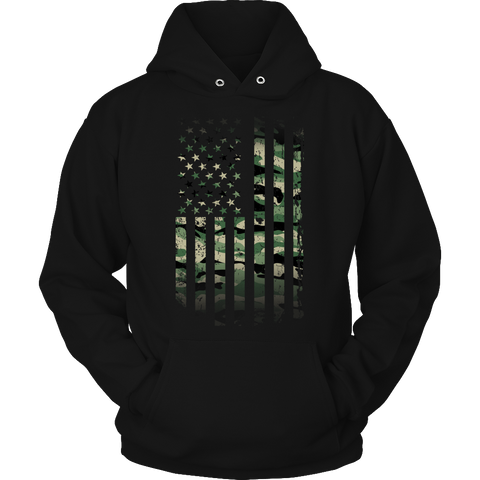 Limited Edition - Army Flag Hoodie / Black / S