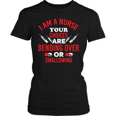 Limited Edition - Bending Over Or Swallowing Ladies Classic Shirt / Black / S