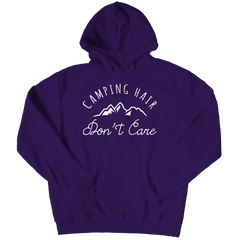 Limited Edition - Camping Hair Don't Care Hoodie / Purple / S