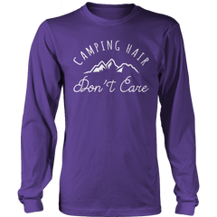 Limited Edition - Camping Hair Don't Care Long Sleeve / Purple / S