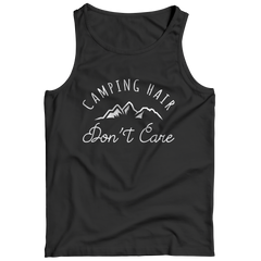 Limited Edition - Camping Hair Don't Care Tank Top / Black / S