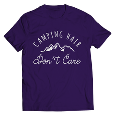 Limited Edition - Camping Hair Don't Care Unisex Shirt / Purple / S