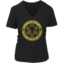 Limited Edition - Combat Medic Ladies V-Neck / Black / S