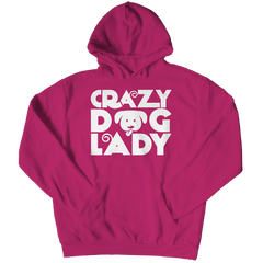 Limited Edition - Crazy Dog Lady Hoodie / Pink / S
