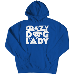 Limited Edition - Crazy Dog Lady Hoodie / Royal / S