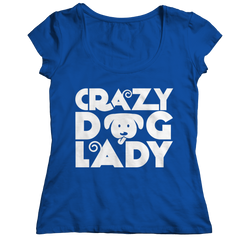 Limited Edition - Crazy Dog Lady Ladies Classic Shirt / Royal / S