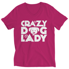 Limited Edition - Crazy Dog Lady Ladies V-Neck / Pink / S