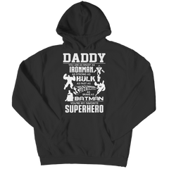 Limited Edition - Daddy Super Hero Hoodie / Black / S