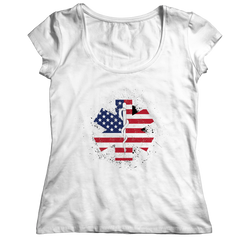 Limited Edition - EMT Flag Star of Life Ladies Classic Shirt / White / S
