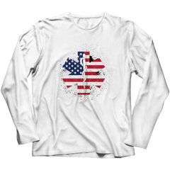 Limited Edition - EMT Flag Star of Life Long Sleeve / White / S