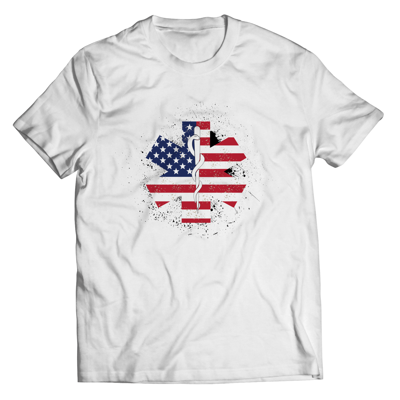 Limited Edition - EMT Flag Star of Life Unisex Shirt / White / S