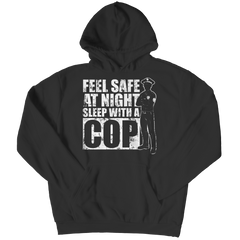 Limited Edition - Feel safe at night sleep with a Cop Hoodie / Black / S