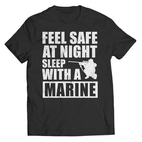 Limited Edition - Feel safe at night sleep with a Marine Unisex Shirt / Black / S