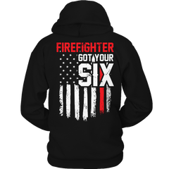 Limited Edition - FireFighter Got Your Six Hoodie / Black / S