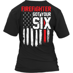 Limited Edition - FireFighter Got Your Six Ladies V-Neck / Black / S