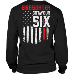 Limited Edition - FireFighter Got Your Six Long Sleeve / Black / S