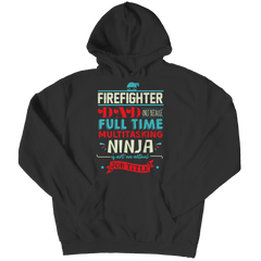 Limited Edition - FireFighter Ninja Dad Hoodie / Black / S