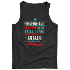 Limited Edition - FireFighter Ninja Dad Tank Top / Black / S