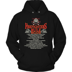 Limited Edition - Firefighter Rules Hoodie / Black / S