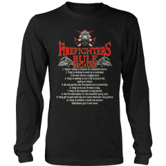 Limited Edition - Firefighter Rules Long Sleeve / Black / S