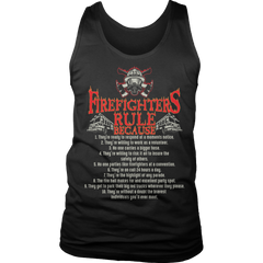 Limited Edition - Firefighter Rules Tank Top / Black / S