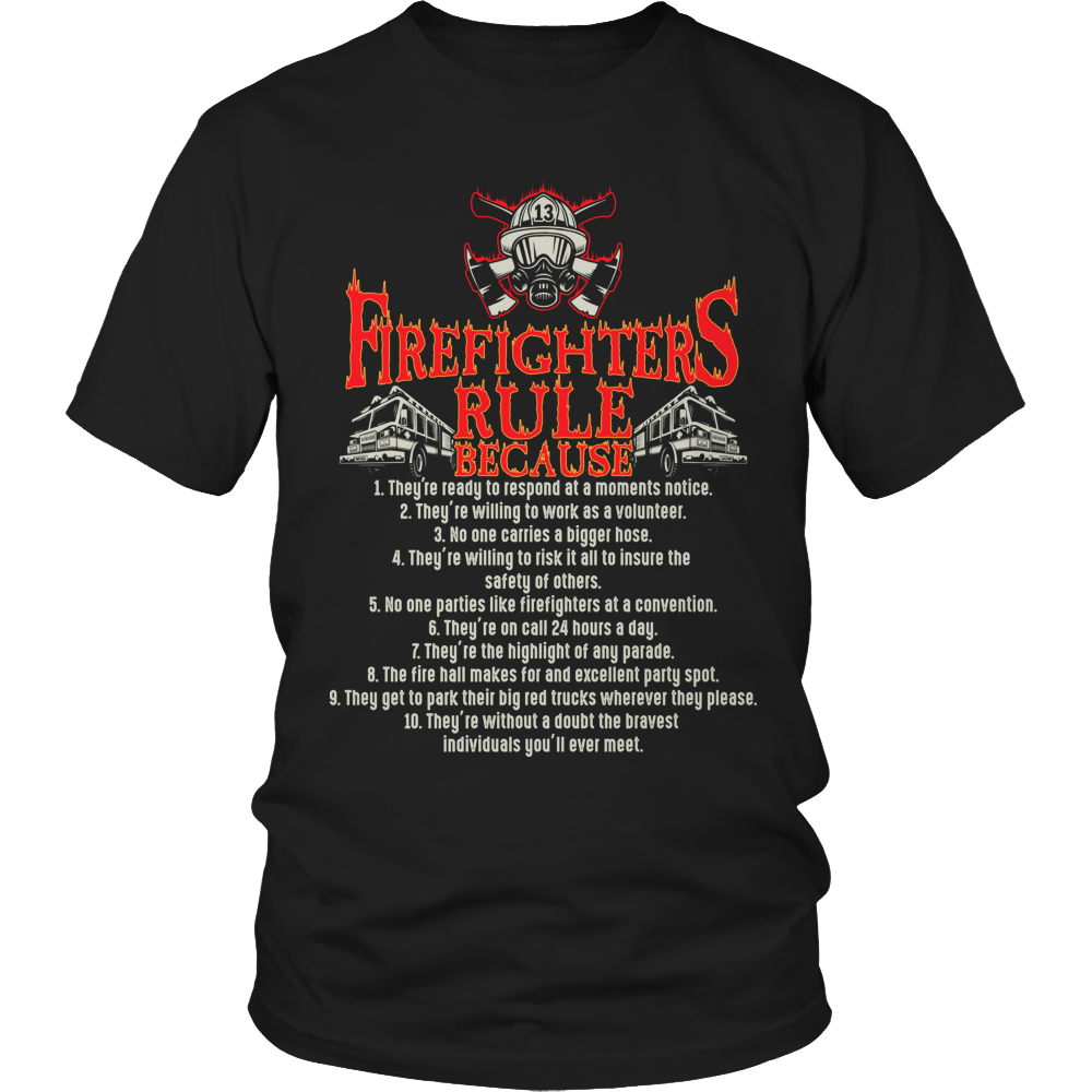 Limited Edition - Firefighter Rules Unisex Shirt / Black / S