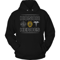 Limited Edition - Honor Heroes-POLICE Hoodie / Black / S